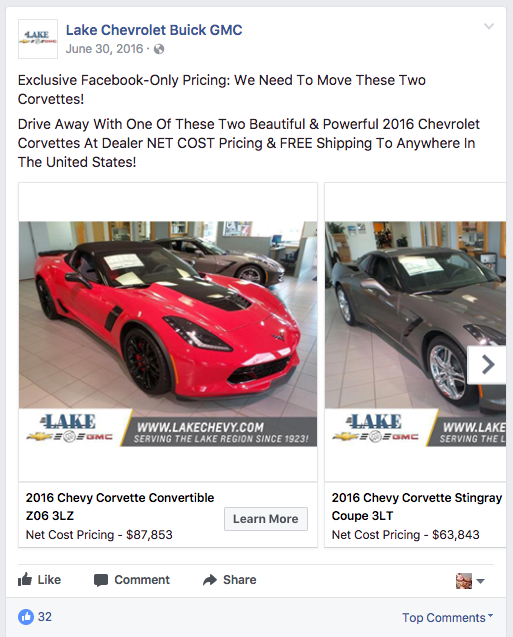 9 shockingly successful facebook campaigns you can create from your dealership s audience. Black Bedroom Furniture Sets. Home Design Ideas