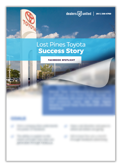 Auto Dealer Success Story Facebook Ads